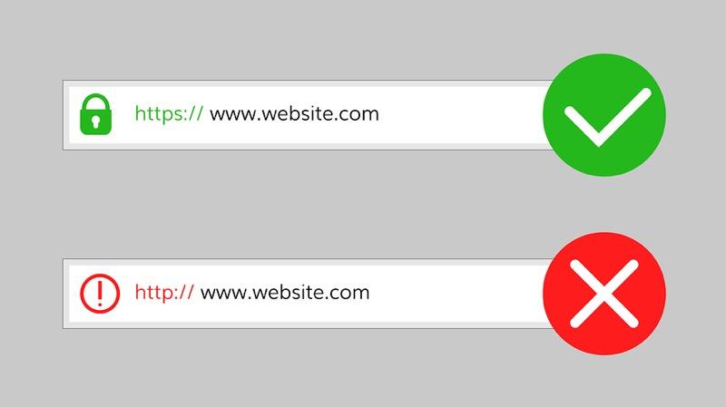 http und https im Browser