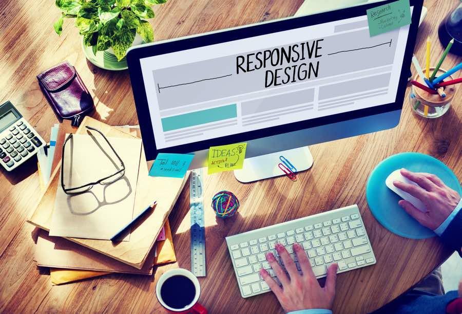 Monitor mit Responsive Webdesign