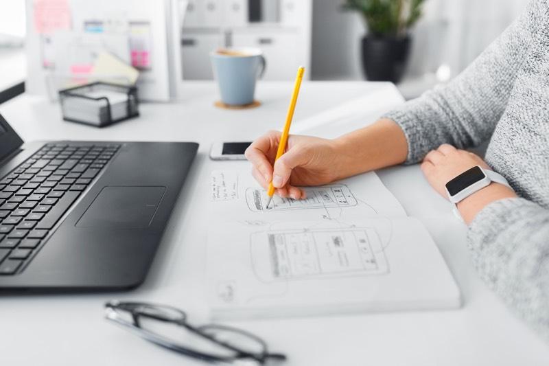 erstellen Webseite am Computer