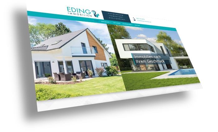 Kundenwebsite Eding Immobilien
