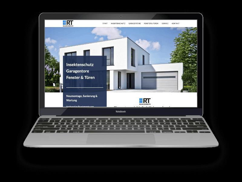 Webdesign Referenzen Projekt RT-Bauelemente