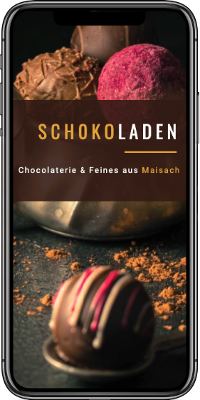 Webdesign Smartphone Projekt Schokoladen